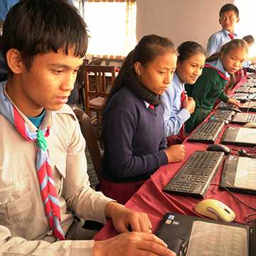 Our first computer lab in Gorkha